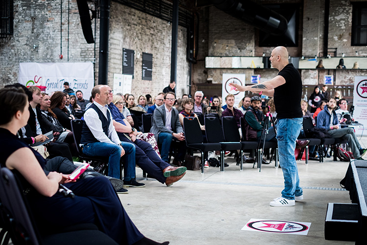 Brad Burton on Day 1 (Inspiration Day) of Newcastle Startup Week 2017