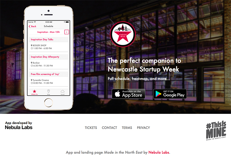 Download the Newcastle Startup Week 2018 mobile app