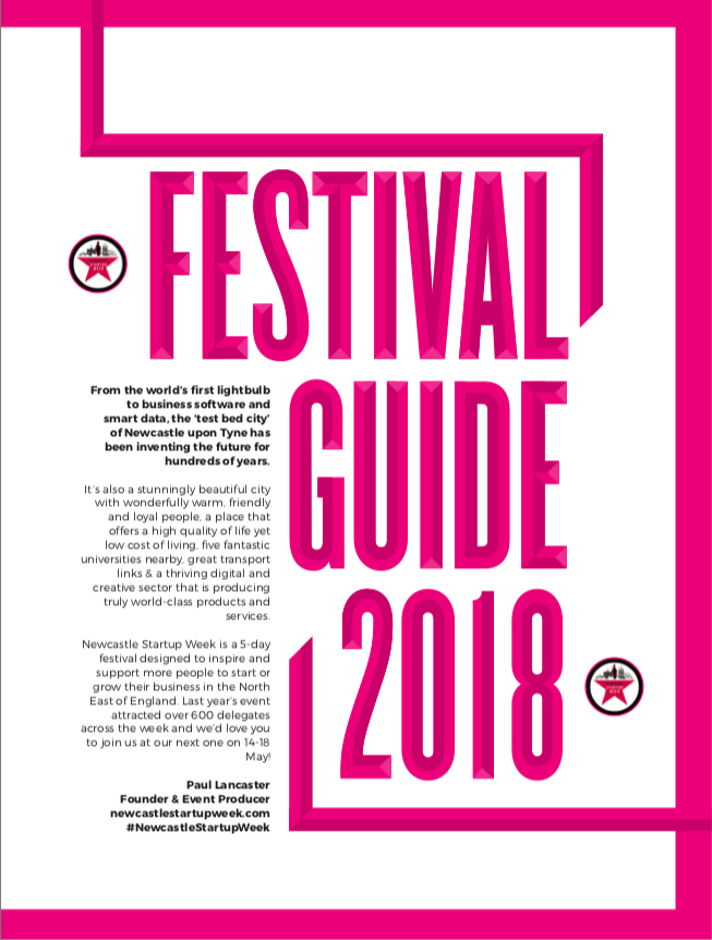 Download the Newcastle Startup Week 2018 Festival Guide